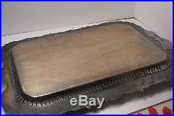 Vintage Pairpoint Heavy Ornate Serving Tray with Grapes Pierced