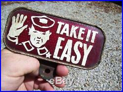 Vintage Plate topper license HARLEY KNUCKLEHEAD FLATHEAD PANHEAD BOBBER HOT ROD