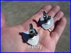Vintage Plate toppers bolts HARLEY KNUCKLEHEAD FLATHEAD PANHEAD BOBBER HOT ROD