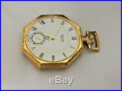 Vintage Pocket Watch Gold Plate Oriosa Swiss 17 Jewels Ornate Gorgeous Case