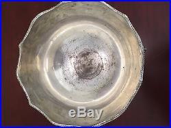 Vintage Punch Bowl Silver on Copper Ornate Lion's Head Handles