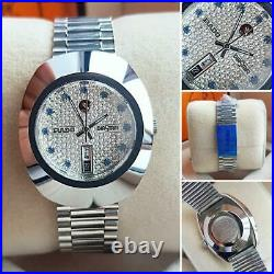 Vintage Rado Diastar 36MM Automatic White Gold Plated Men's Wrist Watch Gift Him