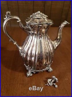 Vintage Reed & Barton 1795 Winthrop Teapot & Creamer & 1765 Tea Pot & Sugar