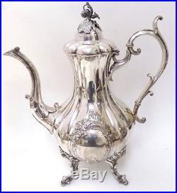 Vintage Reed & Barton 1795E Winthrop Shield Coffee / Tea Pot Creamer Sugar