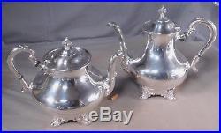 Vintage Reed Barton 6 Piece Silver Tea Service REGENT 1949 TRAY Ornate Rococo