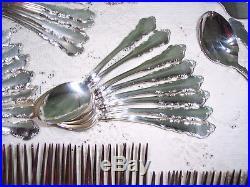 Vintage Reed & Barton Dresden Rose Silverplate Flatware 91pcs Lightly Used