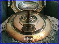 Vintage Reed Barton King Francis Pattern Silver Plate Pedestal Cake Plate Stand