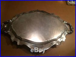 Vintage Reed & Barton Large Waiter Tray 06700 Victorian 24.5 Silver Plate