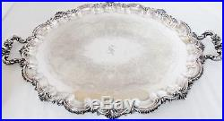 Vintage Reed Barton'Victorian' Silverplated 6 Pc Tea & Coffee Set Monogram S