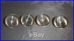 Vintage'Ria Denmark' Stainless Steel Stirrup Cups Set Of 4 With Leather Case