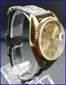 Vintage Ricoh Automatic 21 Jewels Gold Plate Day / Date Men's