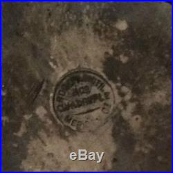 Vintage Rogers Smith Silver Plate & Etched Glass Cruet Castor Set Quadruple Plat