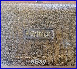 Vintage SELMER F. BARBIER PARIS METAL SILVERPLATE CLARINET & CASE FREE SHIP USA