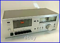 Vintage Sansui D-90 cassette Deck Player wood silver face plate