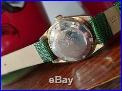 Vintage Seiko 6602 8050 17J 1966 Gold Plated Sunburst Dial Wind Watch Working