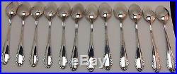 Vintage Set 12 Demitasse Coffee Spoon Teaspoon Heavy Silver Plate HAGA Scandia