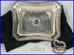 Vintage Silver Entre Casserole Serving Dish Two in One, Top Converts to Dish