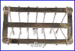 Vintage Silver Golf Toast Rack Letter Holder