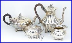 Vintage Silver Plate Community Plate Old English Melon 4-Piece Coffee Tea Set