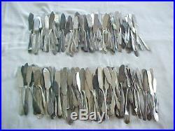 Vintage Silver Plate Flatware Silverware Butter Knives Craft Grade Lot of 150