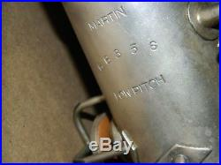 Vintage Silver Plate Martin Handcraft Alto Saxophone