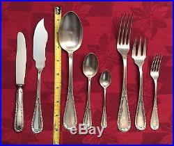 Vintage Silver Plate Mtlp Argentum Alpaca 96g Flatware Set 113 Pieces