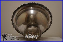 Vintage Silver Plate Punch Bowl Set Tray Platter 12 Cups Sheridan Ladle Grapes