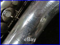 Vintage Silver Plate Selmer Paris New Large Bore Super Alto, Serial #13689