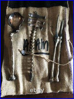 Vintage Silver- Plate Skeletal System Bone Serving Set by Michael Aram