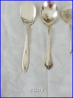 Vintage Silver Plate Spoons Flatware Oneida Community Jam Jelly Designer Rare