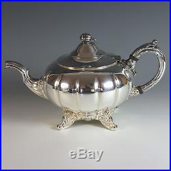 Vintage Silver Plate Tea Coffee Set with Tray, English Mfg Corp