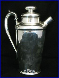 Vintage Silver Plate Wood Shaft Golf Club Era Golf Theme Cocktail Shaker