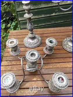 Vintage Silver Plated 5 Arm Candelabra