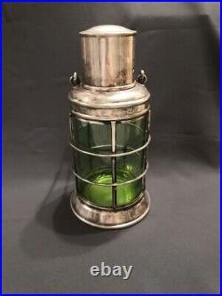 Vintage Silver Plated ASPREY Ship's Lantern Decanter / Cocktail Shaker