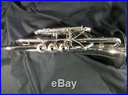 Vintage Silver Plated CornetC. G. ConnThe Wonder1901-1902