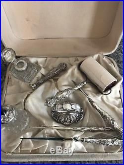Vintage Silver Plated Desk Set