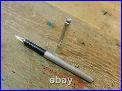 Vintage Silver Plated Grain d'Orge Barley PARKER 180 Fountain Pen 14k X/M Nib