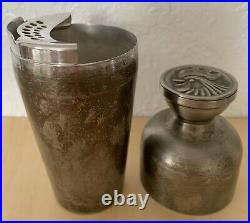 Vintage Silver Plated NAPIER COCKTAIL Shaker with Rooster Cap 6 3/8