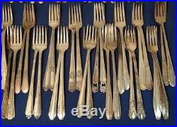 Vintage Silver Plated Silverware Flatware Craft Lot 80 Grille Forks In PAIRS