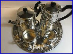 Vintage Silver Plated Tea/Coffee Set 5 Items Elkington & Co, Never Used Mint
