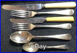 Vintage Silver Plated Walker & Hall Cutlery Set-41 Piece, 6 Setting