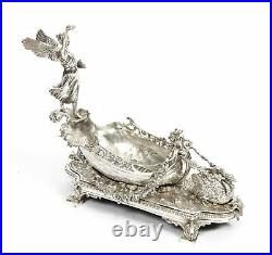 Vintage Silver Plated Winged Victory of Samothrace Boat Centrepiece 20th C