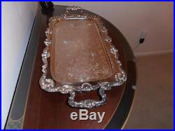 Vintage. Silver Tray. English Silver Mfg, Corp. Made in The USA
