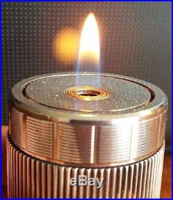 Vintage Silver-plate S. T. Dupont de Paris Cylinder Table Lighter