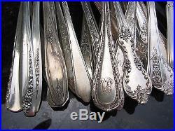 Vintage Silverplate Meat Serving Forks Craft Grade Flatware Lot of 30