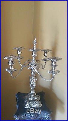 Vintage Silverplate candelabra