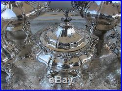 Vintage Silverplated Gorham 6 Piece Coffee/Tea Service with Serving Tray