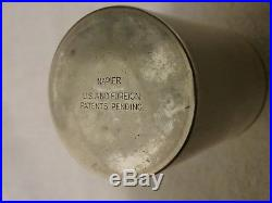 Vintage Silverplated Napier Cocktail Shaker with Drink Indicator Dial Top