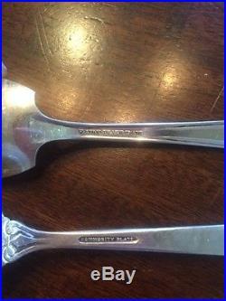 Vintage Silverware 1926 Wallace Bros Plate AA/1939 Crown Silverplate + extras