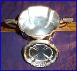 Vintage Southern Railway Railroad Silver Plate SUGAR BOWL Dining Car Service